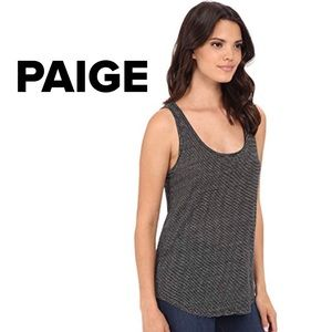 PAIGE black and white stripe linen tank top